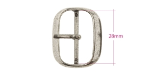 Metal buckle, 35x28 mm for belt width 28 mm, plating: old silver, PA577