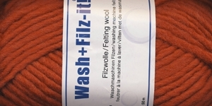Viltimislõng Wash+Filz-It; Värv 5 (Terrakota oranž), Schachenmayr