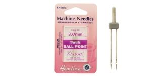 Twin ball point Needle, 3,0mm, No.80, Klasse, Hemline H111.30
