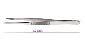 Pinsetit hammastuksella, suorat, 15,5cm, PK1818, TC12