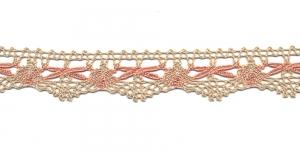 Puuvillane pits 3472-N4 laiusega 3 cm, värv linabeež roosaga