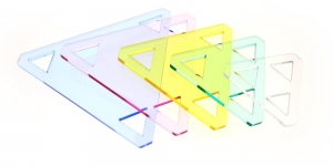 Clear View Triangle Templates set, YFC , RN-5530