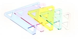 Šabloon-joonlaudade komplekt, YFC , RN-5530, kolmnurgad