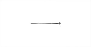 Ehtenõel Mustjas-metallik, Gun Metal Round Head Pin, 26mm, ED35