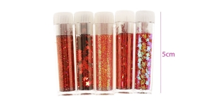 Glitter Powder, 5 tubes, Hobby & Crafting Fun 8607
