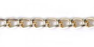 Alumiiniumkett Hele kuldne 19 x 12,5 x 3,4 mm, MA47A