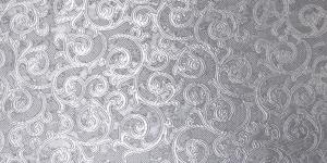 Kunstsiidist kangas ornamendimustriga Art. 619387/0/5 hõbehall