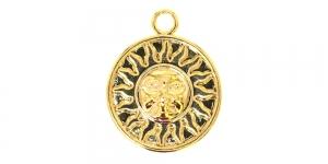 25mm Kuldne, ümar aasaga medaljon, EG239