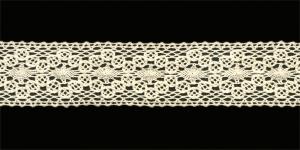 Puuvillane pits 1423-02 laiusega 3 cm, värv kreemjasvalge