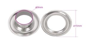 Pronksist öösid, augu ø9 mm, 16 tk, Pinnatud: nikkel, KL0125