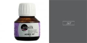 Siidivärv, kangavärv Arasilk, 50 ml, STEEL-GREY, 167