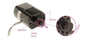Overloki mootor, YDK 220-230V, 120W, 7600rpm YM-260-12E