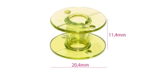 Plastic Bobbin for Home Sewing Machines yellow