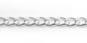Alumiiniumkett Hõbedane 12,5 x 8,5 x 2,5 mm MA62