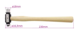 Haamer, nn kullassepahaamer, sileda ja keraja otsaga, 23cm, PK5608, TA10
