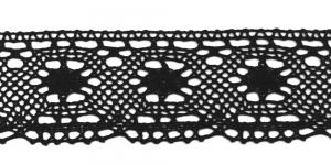Puuvillane pits, Cotton (Crochet) Lace, 3079-14 laiusega 6,5cm, värv must