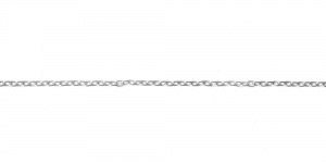 Hõbedane alumiiniumkett, 4,7 x 3 x 0,8 mm, MA11