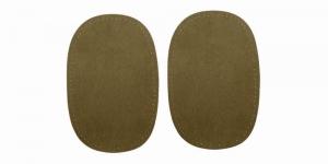 Triigitavad ehk kuumkinnituvad veluurpaigad, 2 tk, 10 cm x 15 cm, Pronty, khaki-rohelised 041