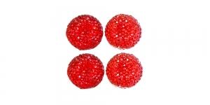 WC12 18mm Punane, läbipaistev dekoraatiivkivi, 4tk