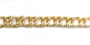 Alumiiniumkett Kuldne 22 x 16 x 3 mm, MA106