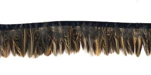 QA6 Pruunikas hallikas triibuline sulepael, 10cm ca 9-11 sulge