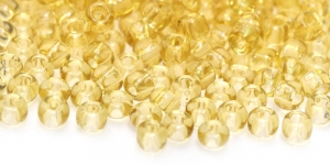 Terahelmed, seemnehelmed,Nr.4 (4.8-5.3 mm), Preciosa Kuldpruunid läbipaistvad HC7