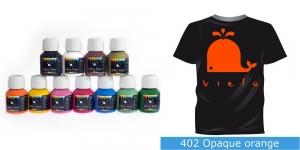 Kattev värv kanga värvimiseks pintsli, tampooni jms abil, Fabric Paint Opaque, 50 ml, Vielo, Värv: oranž, #402 Opaque orange