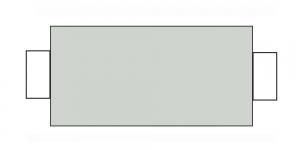 Õmblusniit, 100% PES, 366m, terase varjundiga helehall CA310-CA805