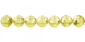 10mm Sidrunikollane läbipaistev tahuline akrüüülhelmes, AD27