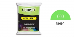 Polymer clay Fluorescent, Neon, Cernit, 56g, Green 600