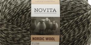 Täisvillane lõng Nordic Wool Flow, Novita, Värv 90, hallide toonide kirju
