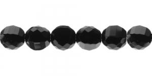 Ümar laiatahuline klaaspärl, Tšehhi, 14mm, Tšehhi, must, LO154