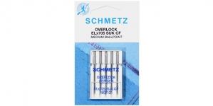 Трикотажные иглы для домашних плоскошовных машин, оверлоков Schmetz, ELx705CF SUK №.80 (12)