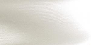 Valge atlas diagonaalkant / 18mm, `Raso` / Värv 413