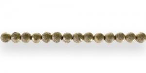 BJ14 4mm Kuldne kareda metallse pinnaga ümar plasthelmes