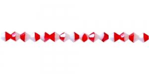 LR32 4mm Punase-, valgekirju, läbipaistmatu topeltkoonusekujuline klaashelmes