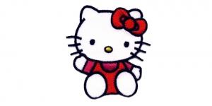 AG66 Punane Hello KittY/ Hello Kitty / 6,5x5,5cm