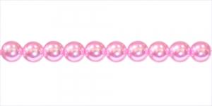 KK362 Ümarad pärlmutter klaaspärlid, Jablonex Tšehhi, 6mm Roosa