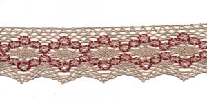 Puuvillane pits 1424-X6 laiusega 6,5 cm, värv linabeež punasega