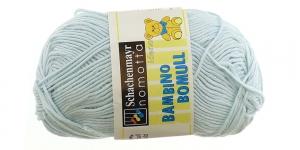 Puuvillalõng Bambino Bomull; Värv 250 (Heletürkiissinine) / Scachenmayr