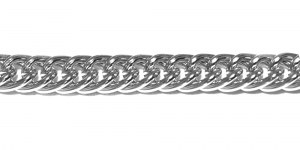Alumiiniumkett Hõbedane 15 x 12 x 3 mm, MA75