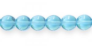 LN264A Ümar klaaspärl, Tšehhi, 12mm, Türkiissinine läbipaistev