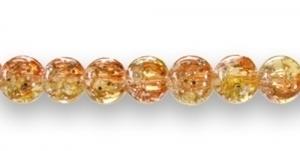 KE4 8mm Mitmevärviline oranž-kollane hõbedaste täppidega
