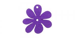 Lillekujuline lilla puitdetail / Violet Flower Pendant / 25 x 2mm / IO163