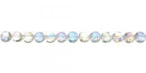 LN1129 6mm Värvitu, läbipaistev AB- kattega (tihedama tahuga) ümar klaashelmes
