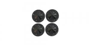 WD5 18mm Must, läbipaistmatu dekoraatiivkivi, 4tk