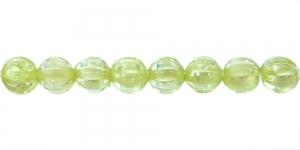 Salatiroheline valge sisuga läbipaistev akrüülhelmes, AA69 7mm