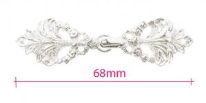 GG258NL, Scandinavian Pewter Clasps, pair size: 68mm x 18mm, silver