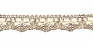Puuvillane pits 3472-L3 laiusega 3 cm, värv linabeež kreemjasvalgega