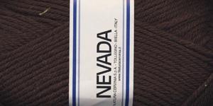 Poolvillane lõng Nevada; Värv 1214 (Tumepruun), Lane Cervinia